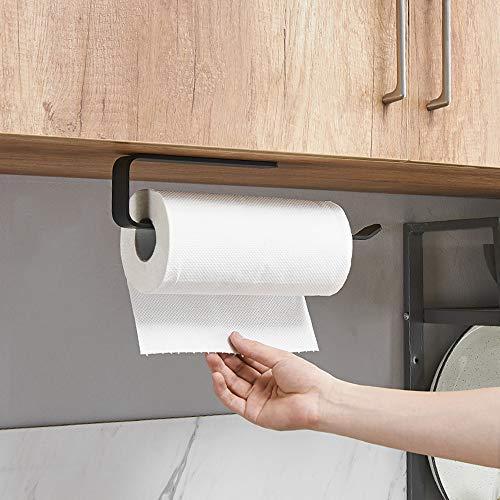 shozon Küchenrollenhalter ohne Bohren, Küchenpapierhalter Wandmontage, Papierrollenhalter aus Aluminium, Küchenrollenspender Küchenrollen Halter Aufbewahrung Organisator (A: 29,5cm)