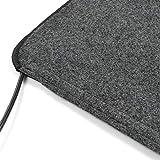 casa pura Heizmatte für Füße | elektrischer Heizteppich mit 3 Heizstufen | wasserdichte Wärmematte als Fußheizung für Wohnwagen, Zuhause und Büro | auch als Schuhtrockner | 2 Größen (50x80 cm) - 4