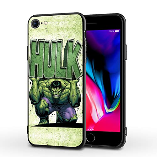 PUTEE Comics iPhone 7 Case iPhone 8 Case iPhone SE 2020 Case Full Body Protection Cover Cases (Hulk, iPhone 7/8/SE2)