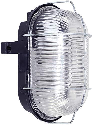Brennenstuhl 1270110 - Lampada da Parete, Ovale, IP44, 60 W, Colore: Nero