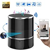 Hidden Spy Wireless WiFi Camera Full HD 1080P Security Nanny Cam in Bluetooth Speaker,Remote Control,Rotating Angle of View 240,Motion Detection for Home Office Store