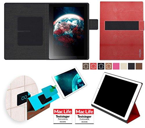Hülle für Lenovo Tab 2 A10-70F Tasche Cover Case Bumper | in Rot Leder | Testsieger