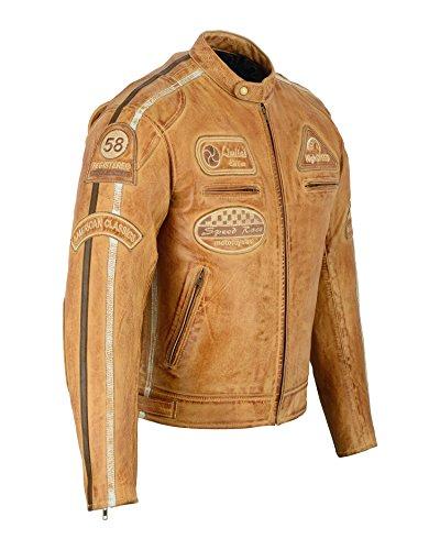 Herren – Motorradjacke aus Nappa Leder (L) - 3