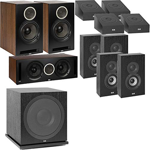 Why Choose ELAC Dolby Atmos Debut Reference DBR62 Bookshelf 11.1 Home Theater System with On-Wall Su...
