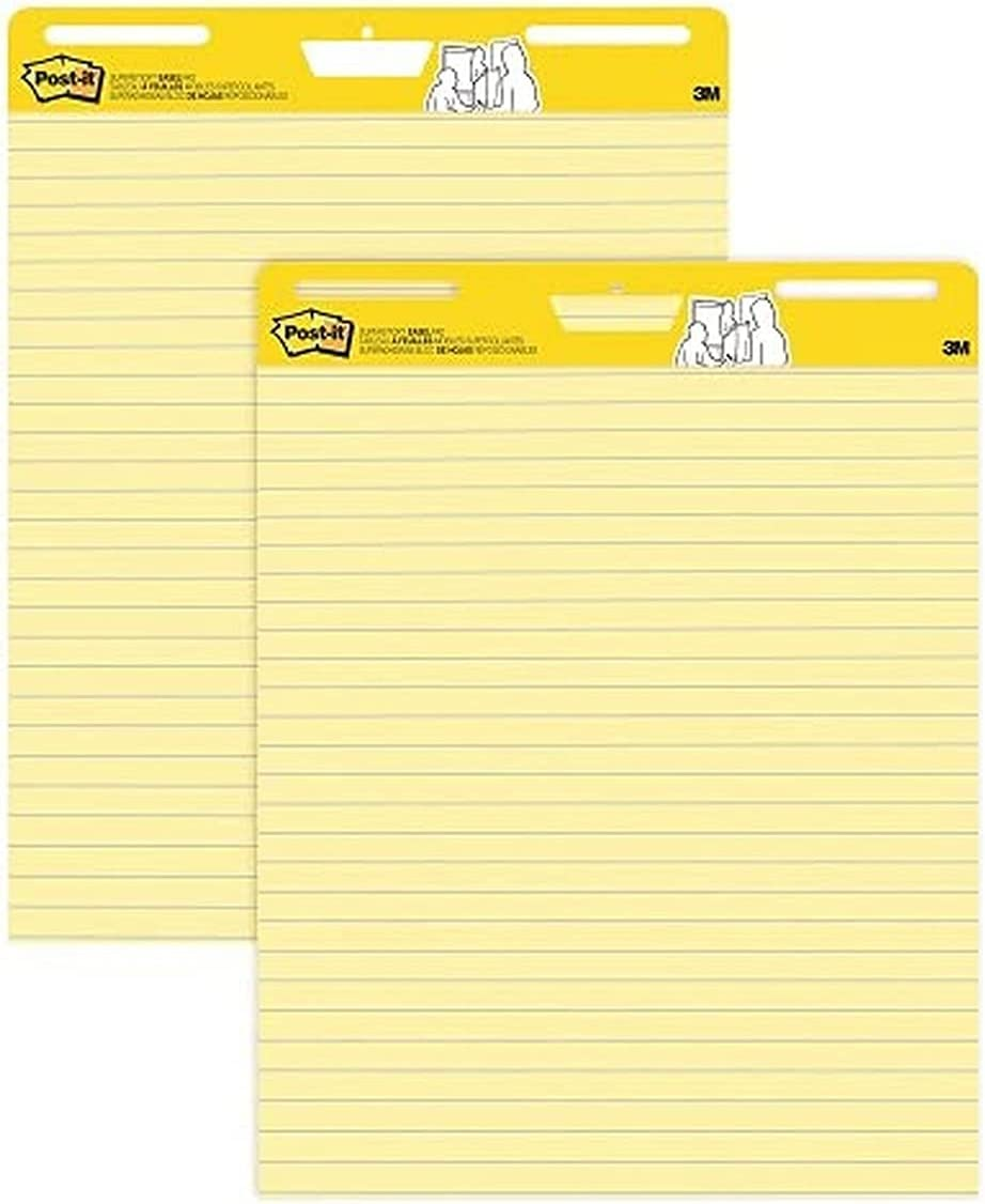 Post-it Super Sticky Easel Pad 25 Sheets Yellow Low price Pap x in Time sale 30