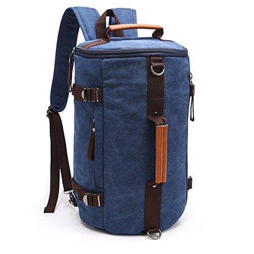 Gendi Sac de Sport Duffle Sac de gymnase Sac de sport léger de sac de couchage de Holdall / bagage de voyage / sac de travail de sac à dos de toile de nuit de fin de semaine (Bleu foncé)