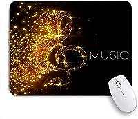 NIESIKKLAマウスパッド 落ちた光沢のある星の創造的な芸術の絵画と音楽創造的な金の音符 ゲーミング オフィス最適 高級感 おしゃれ 防水 耐久性が良い 滑り止めゴム底 ゲーミングなど適用 用ノートブックコンピュータマウスマット