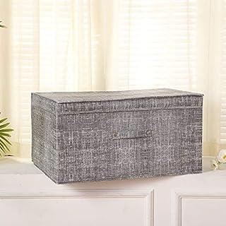 LianHongTouZiGuanLi Boite Boîtes de Rangement avec couvercles en Polyester Tissu Clear Stocket Conteneurs Bacs de conteneu...