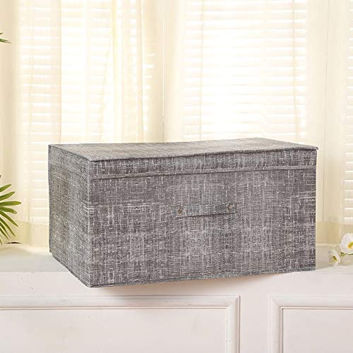 JINQIANSHANGMAO Containers Storage Boxes With Lids Polyester Fabric Clear Storage Baskets Containers Bins With Cover Organizer (Color : Light Grey, Size : 38X25X25cm)