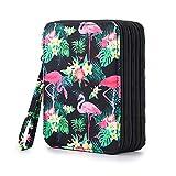 Sumnacon Federmäppchen mit 72 Löchern, für Schule und Büro, mit großer Kapazität (Flamingo)