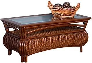Alexander & Sheridan HAV022-SI Havana Cocktail Table in Sienna Finish with Glass