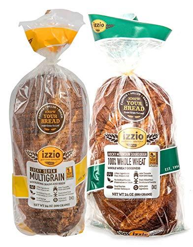 Izzio 24 oz. Sliced Whole Grain Variety (1 x LUCKY SEVEN MULTIGRAIN + 1 x 100% WHOLE WHEAT)