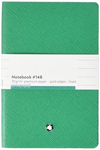 Montblanc 117866 - Cuaderno #148 Fine Stationery – Bloc de notas con páginas de líneas – Libreta para apuntes, tapa color verde esmeralda