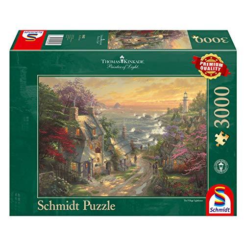 Schmidt Spiele 59482 59482 - Puzle (3000 Piezas), diseño de aldeas en el Faro, Thomas Kinkade
