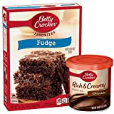 Betty Crocker Fudge Brownie Mix and Chocolate Frosting Bundle (2 Items)