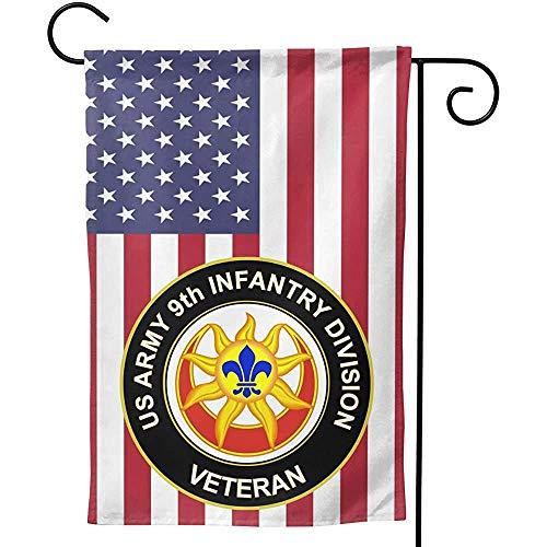 Niet geschikt voor de tuin vlaggen van de 9A kinderveteranen van het Amerikaanse leger U, 32 x 45,7 cm.