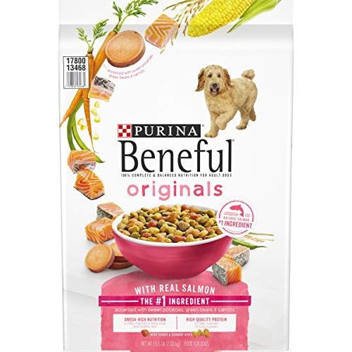Purina Beneful Dry Dog Food, Originals Real Salmon With Sweet Potatoes, Green Beans & Carrots - 15.5 lb. Bag