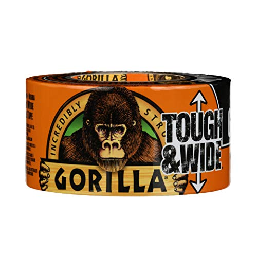 """Gorilla Black Tough & Wide Duct Tape, 2.88"""" x 30 yd, Black, (Pack of 1)"""