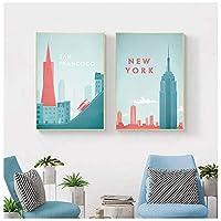 有名な世界旅行ローマポスタースペインアトラクションキャンバス絵画壁アートポスターとプリント写真リビングルームの装飾40x60cmフレームなし