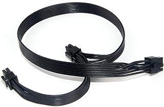 Nephit PCIe 8-polige stekker op twee PCIe 2X 8-pins (6 + 2) stekker netkabel voor seizoensgebonden stroomvoorziening 25 in...