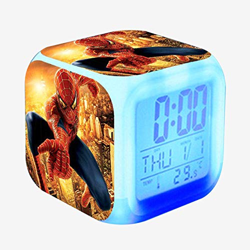 shiyueNB wekker kinderen Cool digitale klok LED Elektronisch bureau Wake Light Shadow Movie Tafelklok