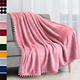 Best Fleece Blankets - PAVILIA Fleece Throw Blanket with Pom Pom Fringe Review