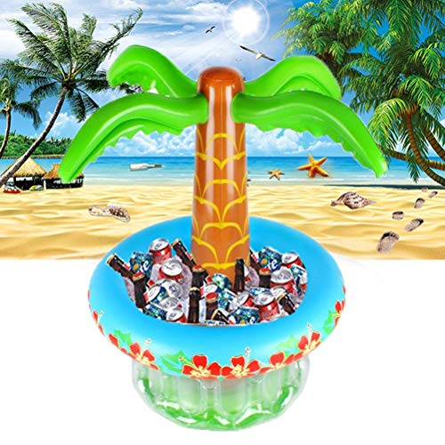 FENGLI Refrigerador Inflable de la Bebida, Enfriador Inflable de la Cerveza Inflable Palmera para Las Fiestas de la Piscina de la Playa Luau Party Supplies de la Fiesta de Verano Decoraciones