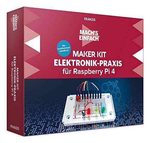 FRANZIS Mach s einfach - Maker Kit Elektronik-Praxis für Raspberry Pi 4 | Vom Minicomputer zum Elektroniklabor | Ab 14 Jahren