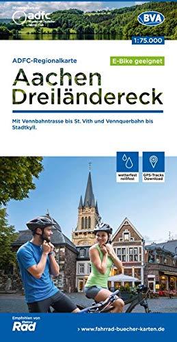 ADFC-Regionalkarte Aachen /Dreiländereck, 1:75.000, reiß- und wetterfest, GPS-Tracks Download: Mit Vennbahntrasse bis St. Vith und Vennquerbahn bis Stadtkyll (ADFC-Regionalkarte 1:75000)