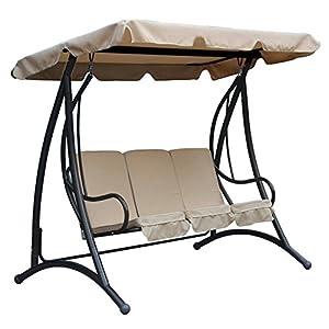 Charles Bentley 3 Seater Premium Outdoor Swing Seat - 280 Kg Capacity