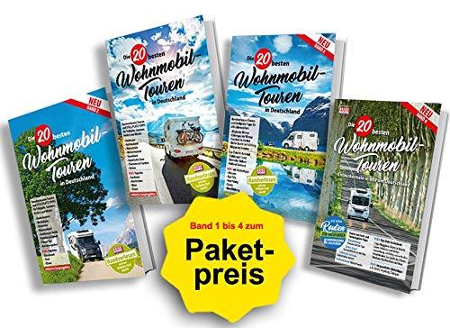 Die 20 besten Wohnmobiltouren in Deutschland - Band 1 bis 4: Alle vier erschienenen Bände zum Paketpreis