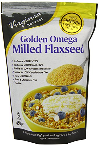 Omega Virginia Golden Harvest graines de lin moulues 450g