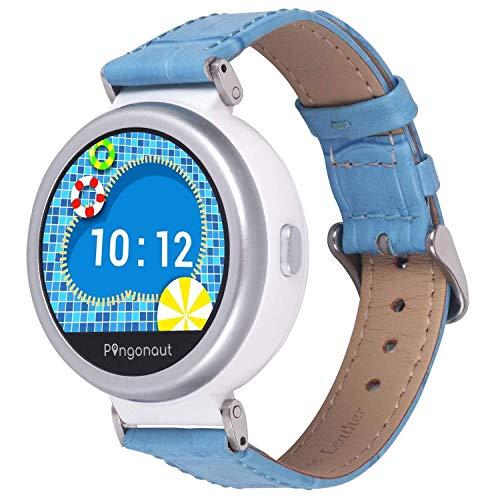 Pingonaut KidswatchPuma Congstar Edition – Kinderuhr mit Telefonfunktion, Sprachnachrichten, Softwareentwicklung & Hosting in Deutschland, SIM-Karteinklusive, Croco Leder-Himmelblau