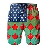 Jiger Men USA Canada Swim Trunk Board Short Beach ShortsXL