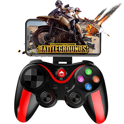 Mobile Controller for PUBG, Megadream Mobile Gamepad Wireless Game Controller Joystick for Android/iOS/iPhone/iPad, Key Mapping, Shooting Fighting Racing Game - No Simulator Needed