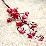 Decoración Decoración Flores Artificiales de Seda Japón Ciruela Flores de Cerezo...