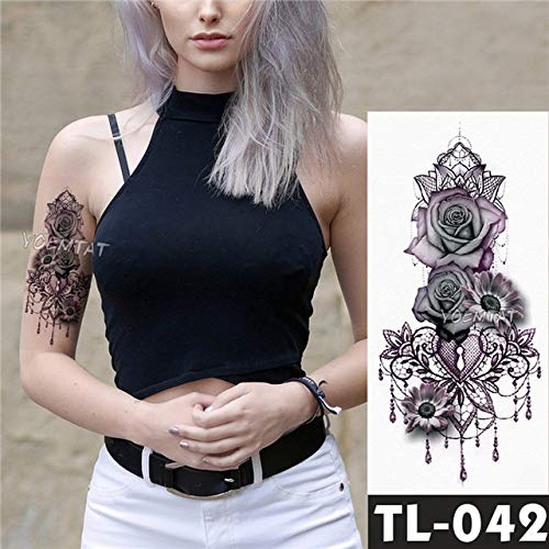 tzxdbh 5 Stks-Water Transfer Oceaan Anker Wave Tattoo Sticker Klok Lelie Parel Patroon Waterdichte Tattoo Voor Mannen Vrouwen-In Tattoos Van Grou 1 5pcs-1