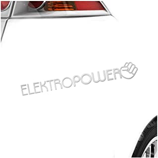 Kiwistar Elektropower 10 x 10 cm IN 15 Farben   Neon + Chrom! Sticker Aufkleber