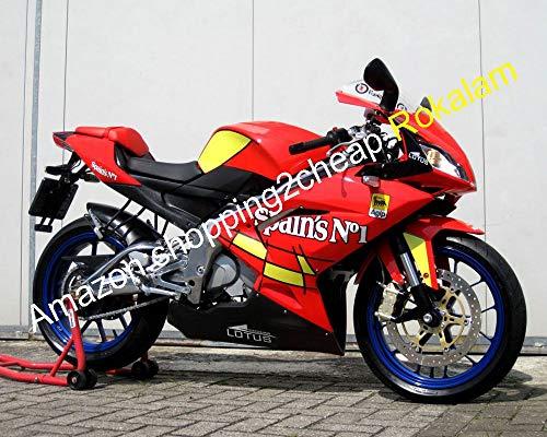 Carenado no.1 de España para Aprilia RS125 2006 2007 2008 2009 2010 2011 RS125 RS 125 ABS Rojo Amarillo Motocicleta (Moldeado Por Inyección)
