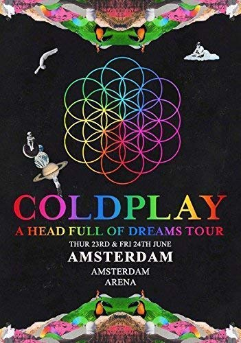 Generic Coldplay Amsterdam Arena - 23. & 24. Juni 2016 Foto Poster Tour 023 (A5-A4-A3) - A3