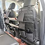 Yawayda 2 Pack Tactical Seat Back Organizer with Horizontal Gun Rack Holder for Truck Pickup F150 Front Seatback Cover Universal Molle Vehicle Panel Protector for Hunting Rifle Shotgun Storage