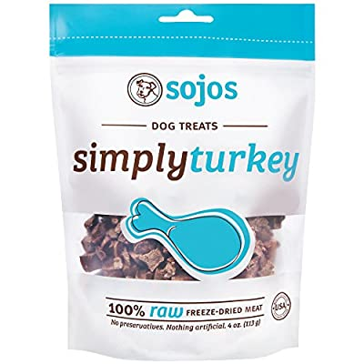 Sojos Simply Turkey Freeze-Dried Dog Treats, 4 oz