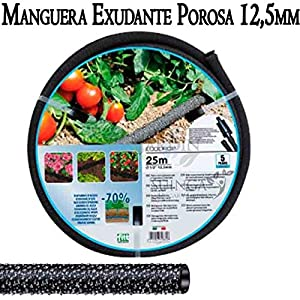 Suinga Manguera Jardin EXUDANTE porosa 12,5 mm 25 MTS, transpira Agua uniformemente y sin rociar.