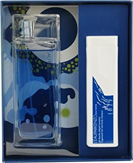 L'eau Par Kenzo By Kenzo For Men Edt Spray 3.4 Oz & Hair And Body Shampoo 3.4 Oz