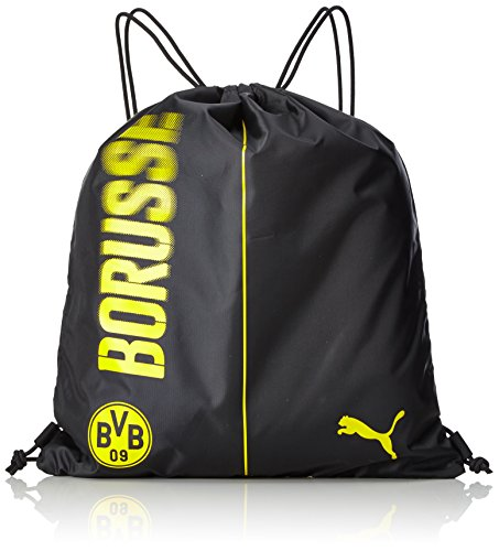 PUMA BVB Fanwear Gym Sack Turnbeutel, Cyber Yellow Black, 44 x 31 x 0.5 cm