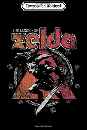 Composition Notebook: Zelda Link Large Symbol Wheel Distressed Poster Journal/Notebook Blank Lined Ruled 6x9 100 Pages