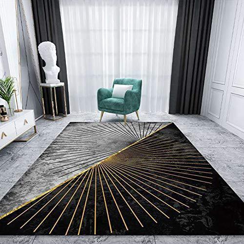ASNX Sala Alfombra, Habitación Comedor Polipropileno Rug, Moderno Moda Carpet, Pila Corta Suave Acogedor, Antideslizante Casa Adornos Estera,80 * 200cm