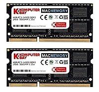Komputerbay MACMEMORY 8ギガバイト(2x4GB)アップルメモリ後期2015 iMacの27のアップグレード」DDR3 1867Mhz PC3-14900 SODIMM 2Rx8 CL13 1.35V RAM