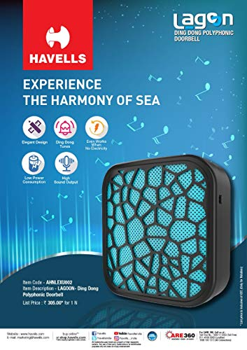 HAVELLS Lagoon Dingdong Polyphonic Doorbell