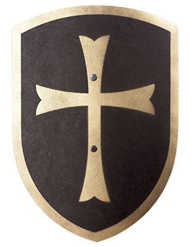 Spielzeugmanufaktur VAH 216 Holzschild, Kreuz (schwarz/Gold), Klein (Breite 27cm / Länge 37cm)